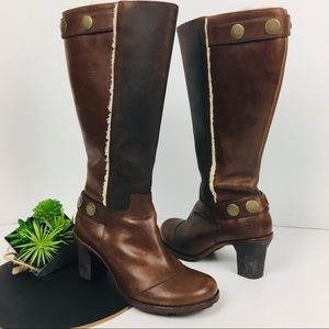 Timberland Tall Brown Fleece Lined Round Toe Boots